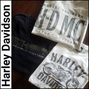 HARLEY DAVIDSON 3pc. Bundle of T-shirts!